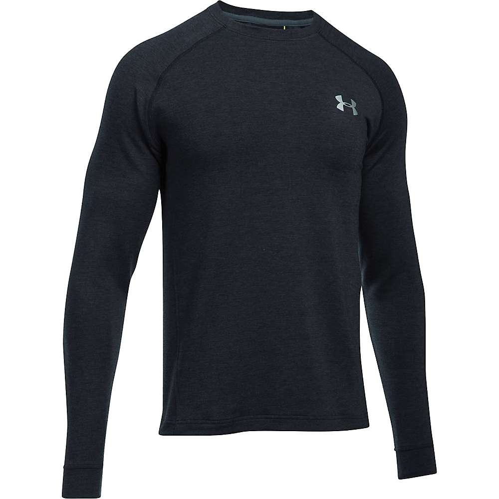 Under Armour Men's UA Tech Terry Crew Neck Top - XL - Black / Black / Silver