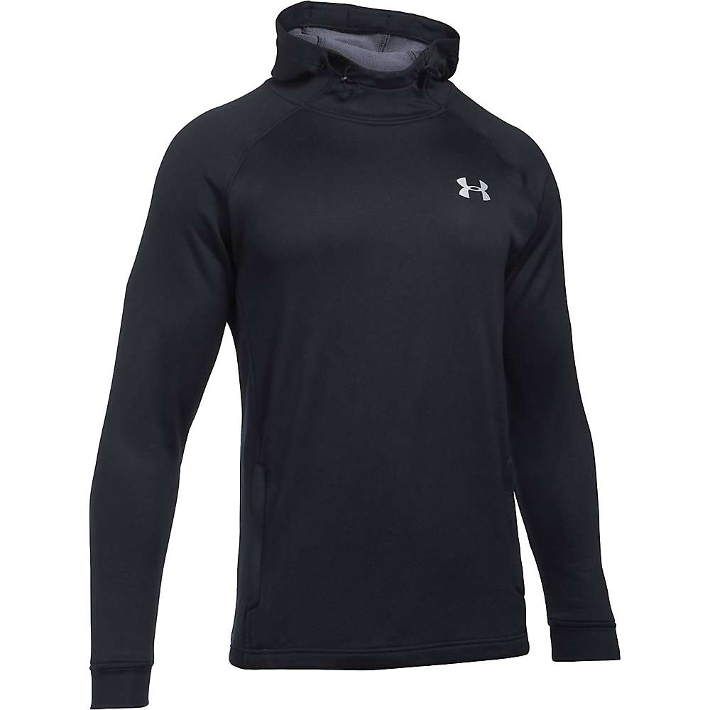 Under Armour Men's UA Tech Terry Popover Hoodie - XL Tall - Black / Black / Silver