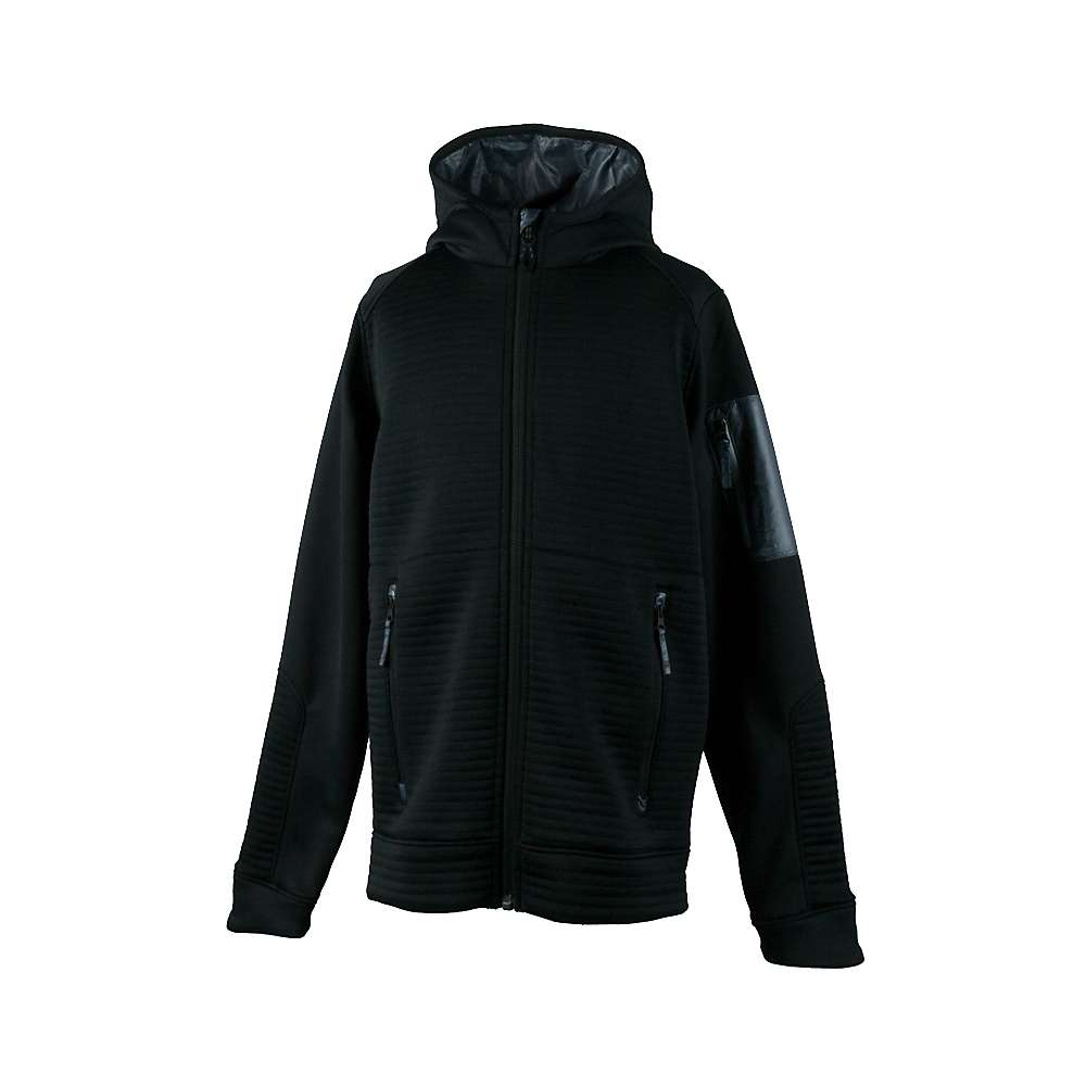 Obermeyer Boys' Match Fleece Hoodie - XL - Black