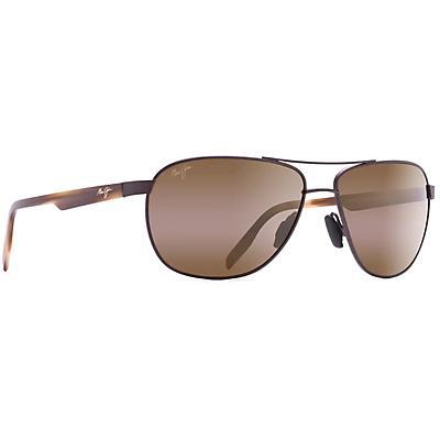 Maui Jim Castles Polarized Sunglasses - Matte Chocolate / HCL Bronze