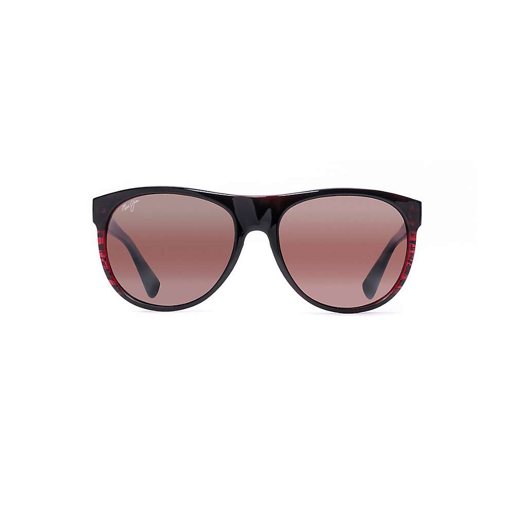 Maui Jim Rising Sun Polarized Sunglasses - One Size - Burgundy Stripe / Maui Rose