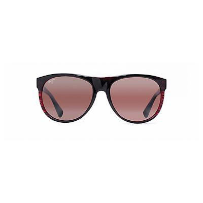 Maui Jim Rising Sun Polarized Sunglasses - Burgundy Stripe / Maui Rose
