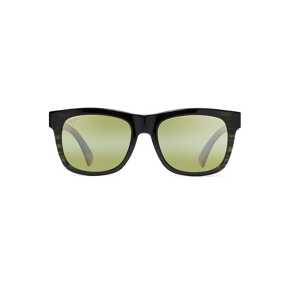 Maui Jim Snapback Polarized Sunglasses - One Size - Green Stripe / Maui HT