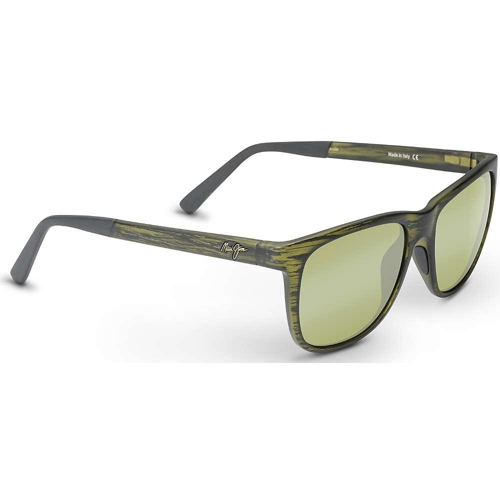 Maui Jim Tail Slide Polarized Sunglasses - One Size - Matte Green Stripe / Maui HT