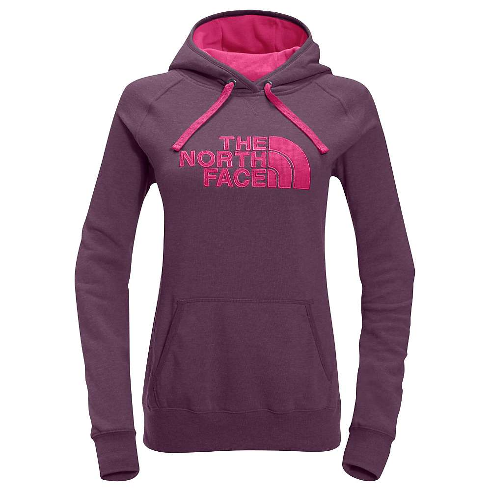 The North Face Women's Avalon Half Dome Waffle Hoodie - Medium - Amaranth Purple Heather / Petticoat Pink