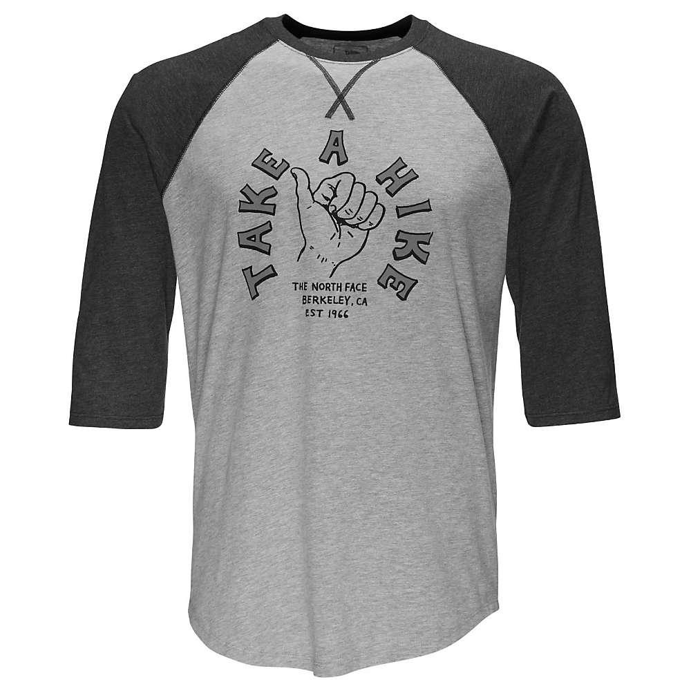 The North Face Men's Take A Hike Baseball Tee - XXL - TNF Light Grey Heather / TNF Dark Grey Heather
