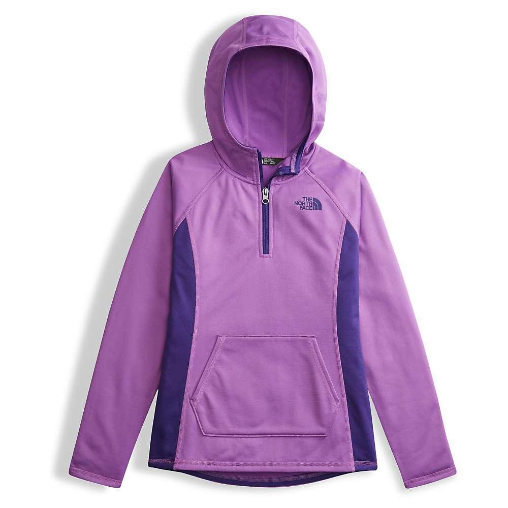 The North Face Girls' Tech Glacier 1/4 Zip Hoodie - XL - Bellflower Purple