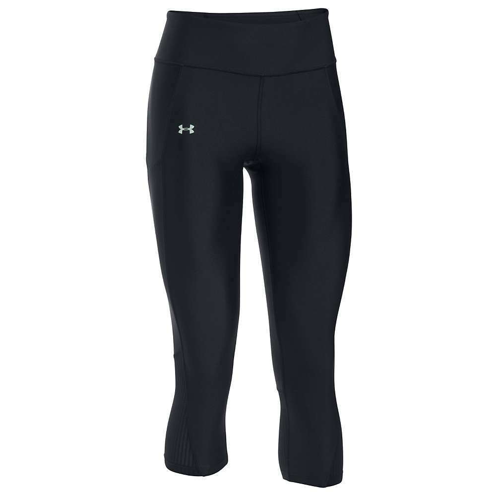 Under Armour Women's Fly By Capri - XS - Black / Black / Reflective