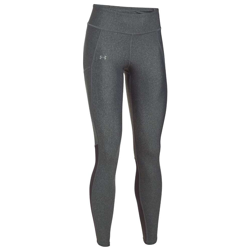 Under Armour Women's Fly By Legging - XL - Carbon Heather / Carbon Heather / Reflective