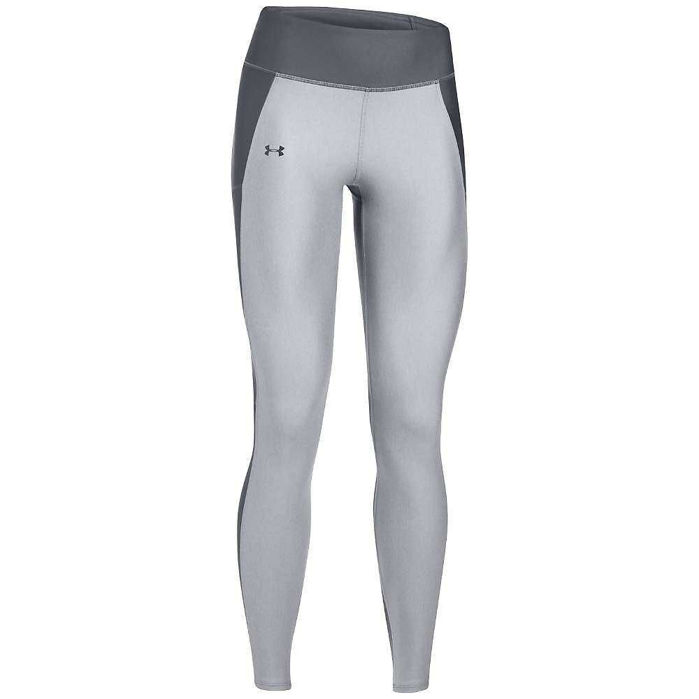 Under Armour Women's Fly By Legging - Large - True Grey Heather / Rhino Grey / Reflective