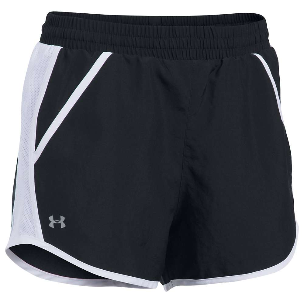 Under Armour Women's Fly By Short - Medium - Black / Black / Reflective