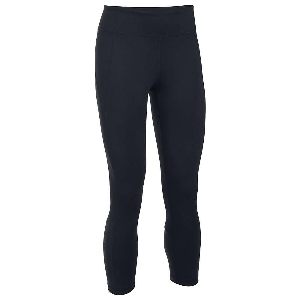Under Armour Women's Mirror Crop Pant - Medium - Black / Silver