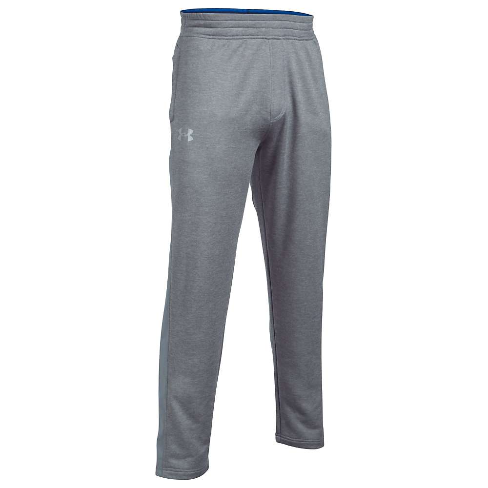 Under Armour Men's Tech Terry Pant - Large - True Grey Heather / Steel / Silver