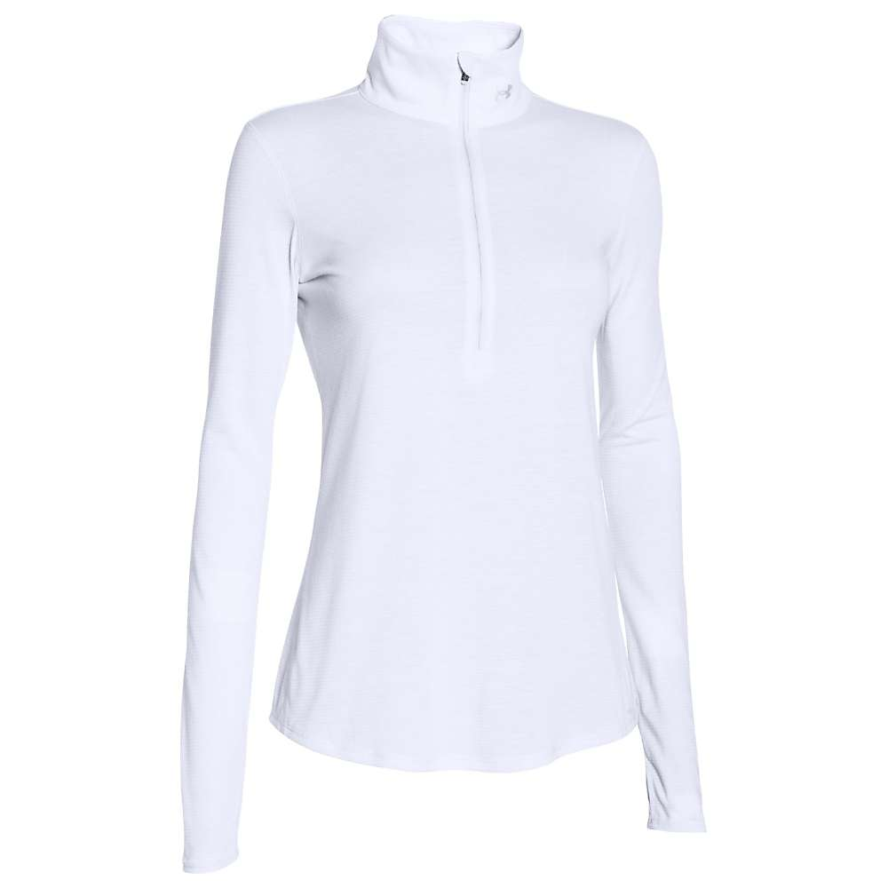 Under Armour Women's Threadborne Streaker 1/2 Zip Top - Large - White / White / Reflective