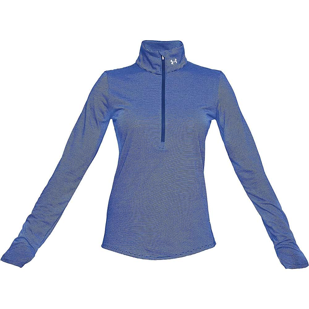 Under Armour Women's Threadborne Streaker 1/2 Zip Top - Small - Formation Blue / Oxford Blue / Reflective
