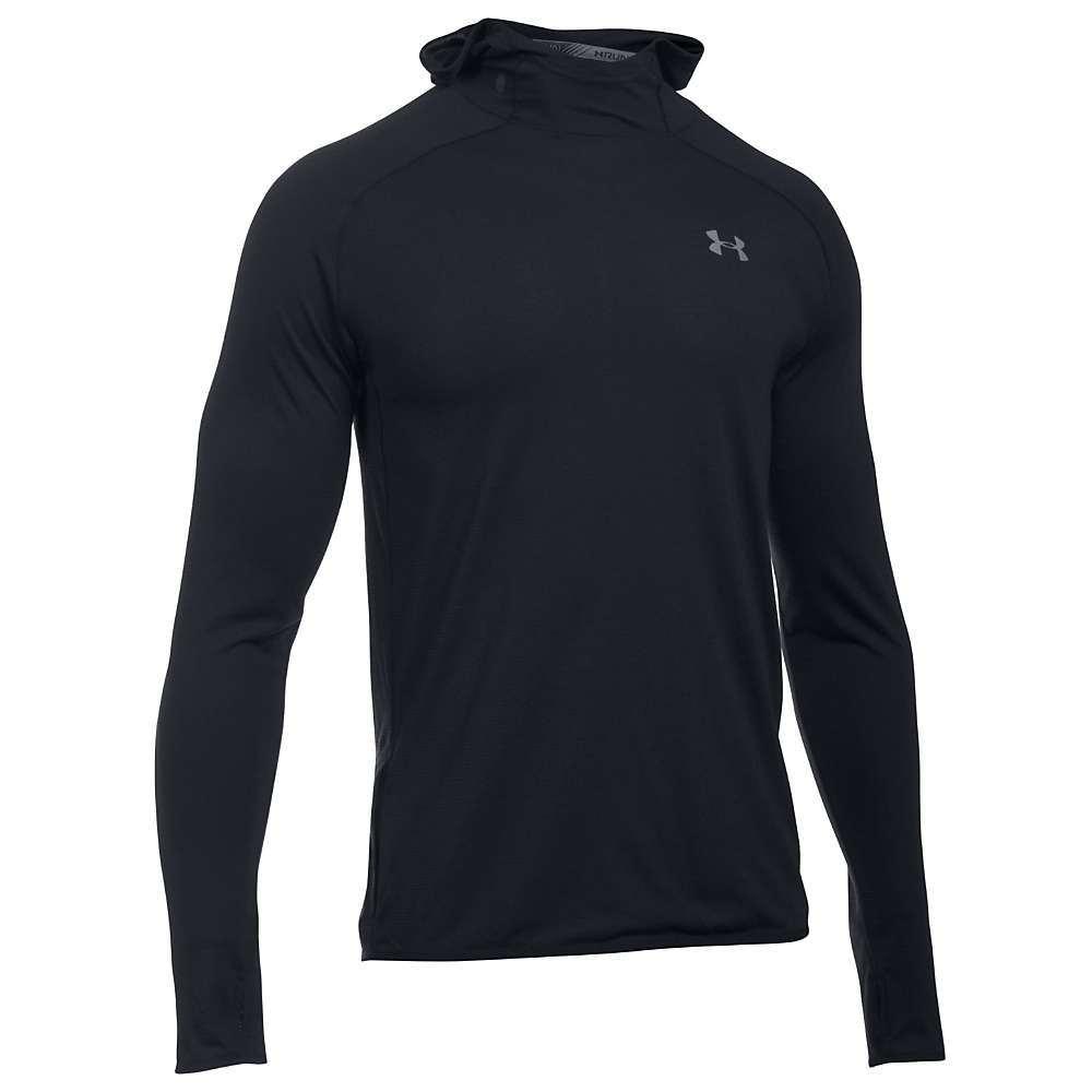 Under Armour Men's Threadborne Streaker Hoody - XXL - Black / Black / Reflective