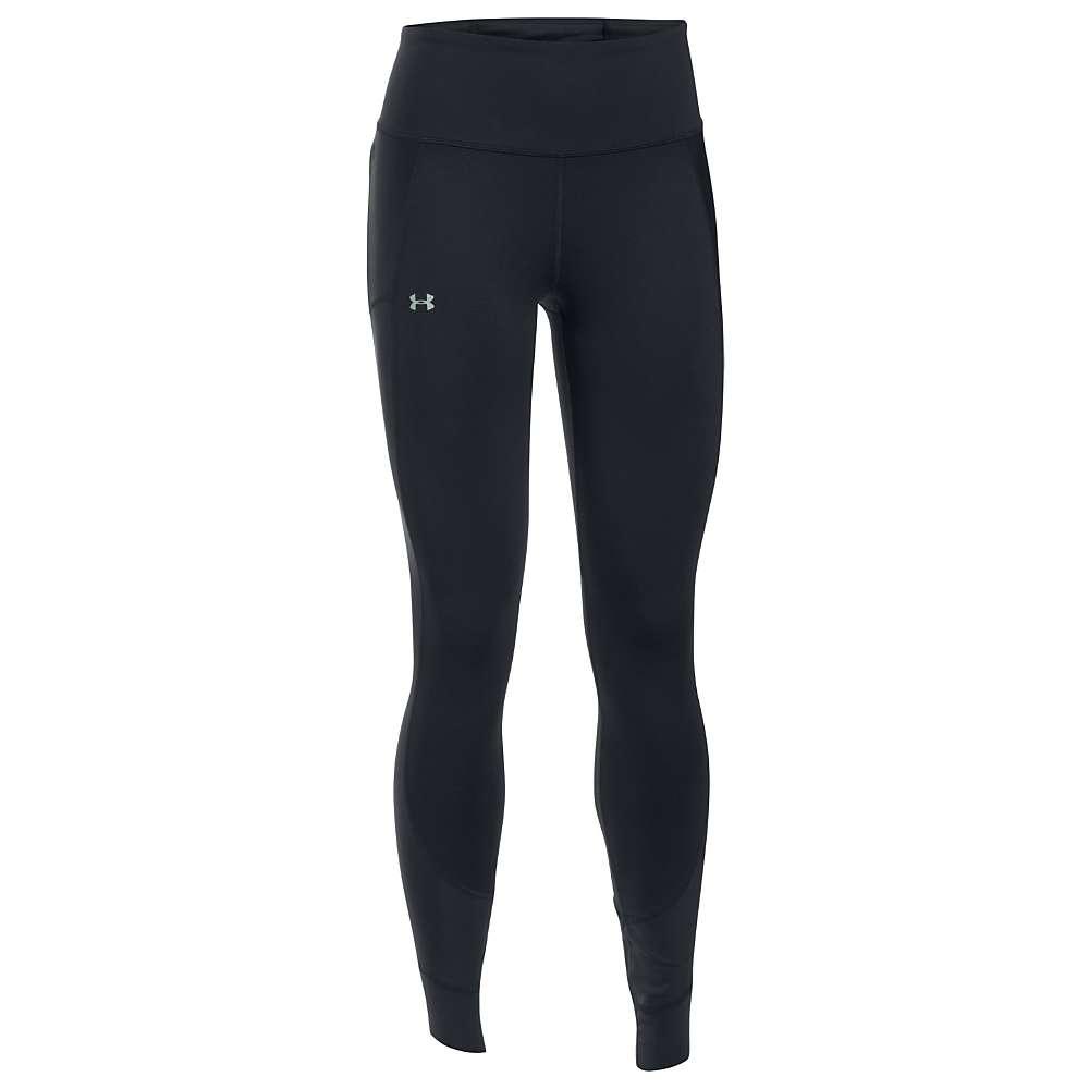 Under Armour Women's Threadborne Coldgear Legging - XS - Black / Reflective