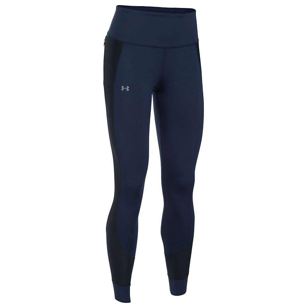 Under Armour Women's Threadborne Coldgear Legging - XS - Midnight Navy / Reflective