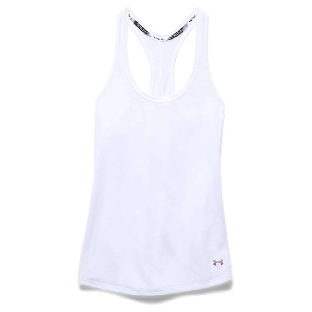 Under Armour Women's Threadborne Streaker Tank Top - Medium - White / Reflective