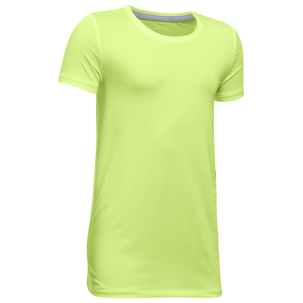 Under Armour Girls' UA Armour SS Top - XL - Pale Moonlight / Pale Moonlight / White
