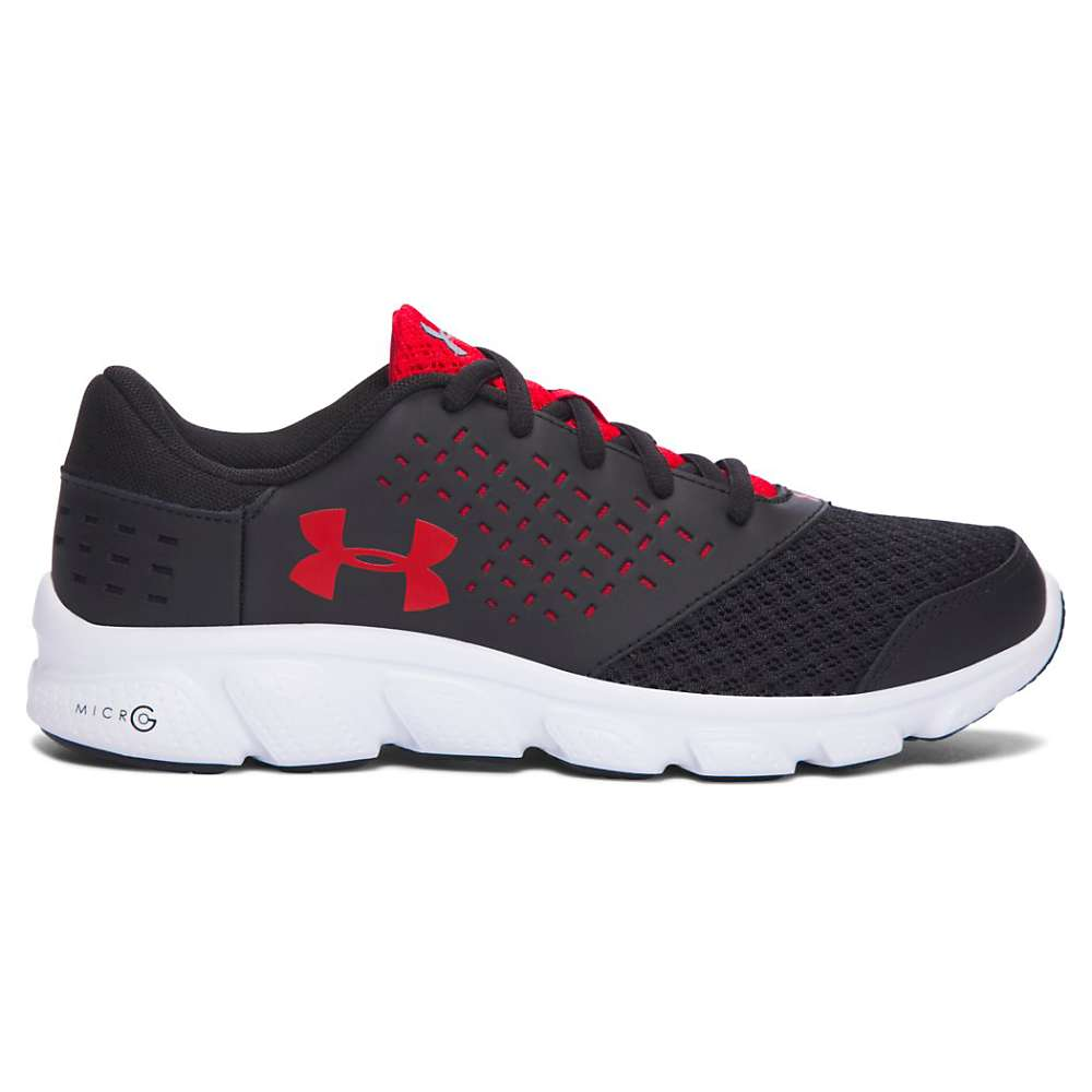 Under Armour Boys' UA BGS Micro G Rave RN Shoe - 6 - Black / White / Red