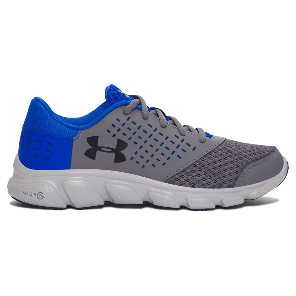 Under Armour Boys' UA BGS Micro G Rave RN Shoe - 6 - Graphite / Ultra Blue / Black