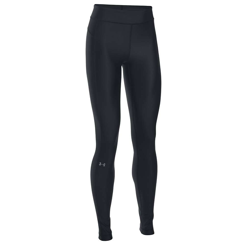 Under Armour Women's UA HeatGear Armour Legging - XL Short - Black / Black / Metallic Silver