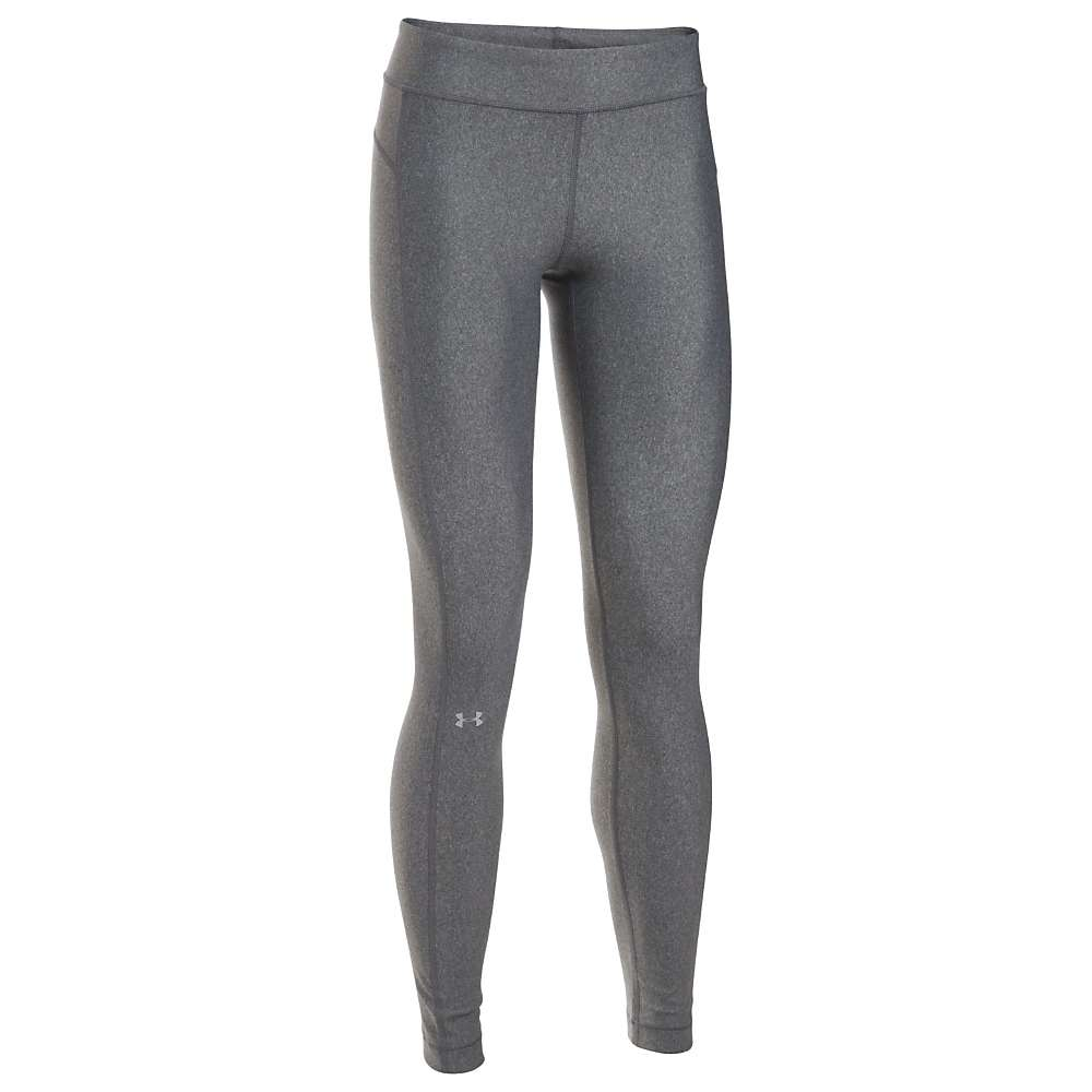 Under Armour Women's UA HeatGear Armour Legging - XS Short - Carbon Heather / Carbon Heather / Metallic Silver
