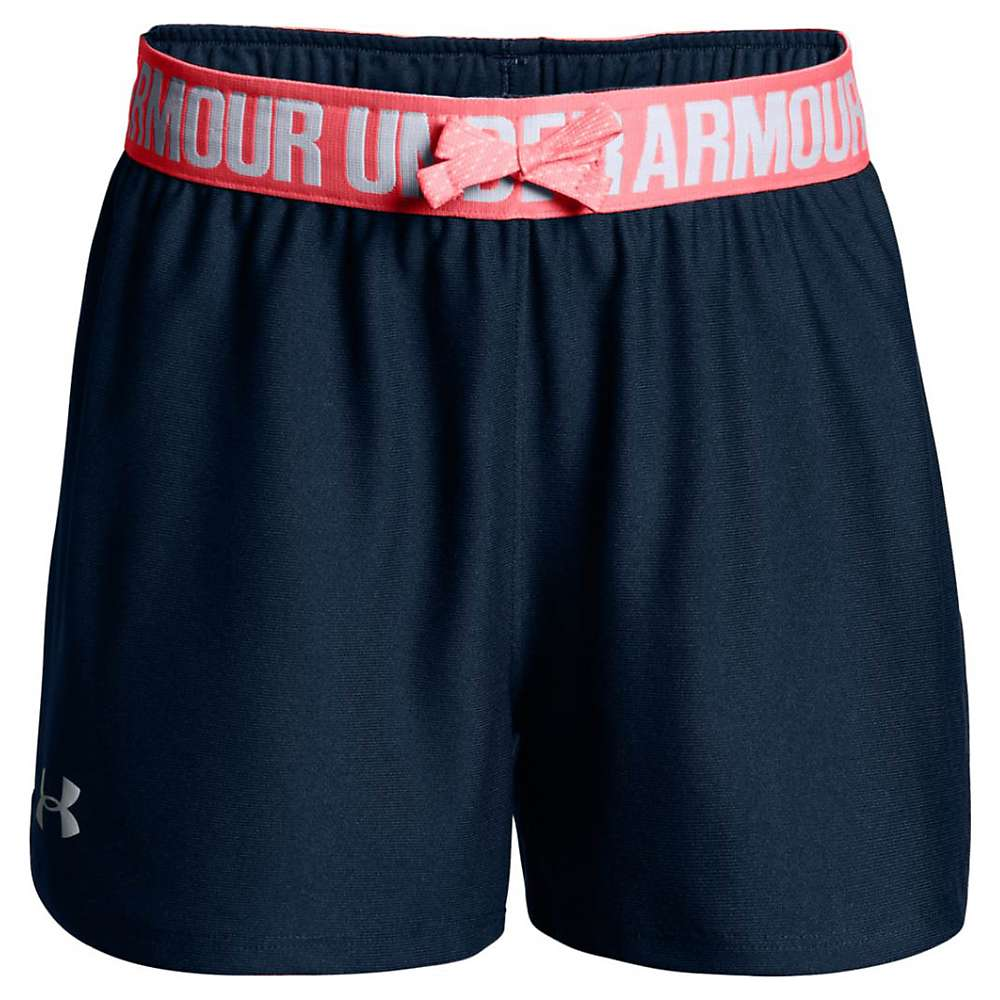 Under Armour Girls' UA Play Up Short - Small - Academy / Brilliance / White
