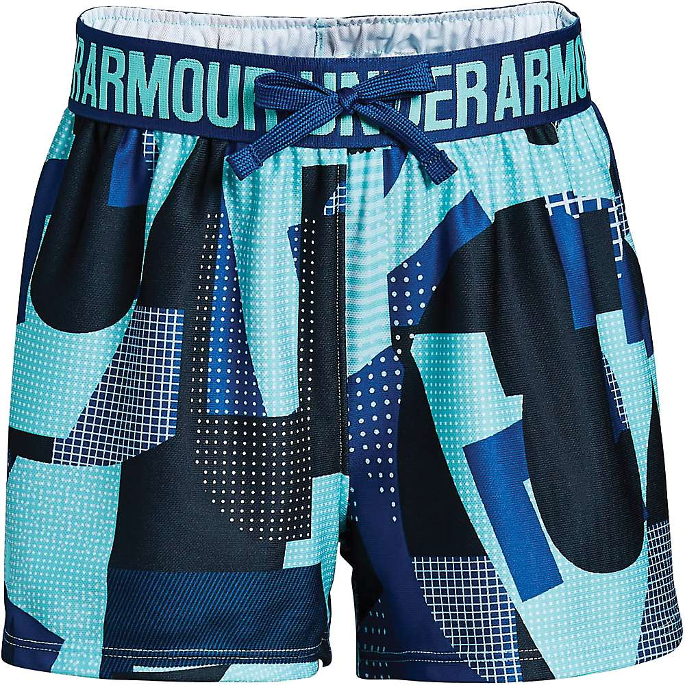 Under Armour Girls' UA Play Up Printed Short - XL - Tropical Tide / Moroccan Blue / Tropical Tide