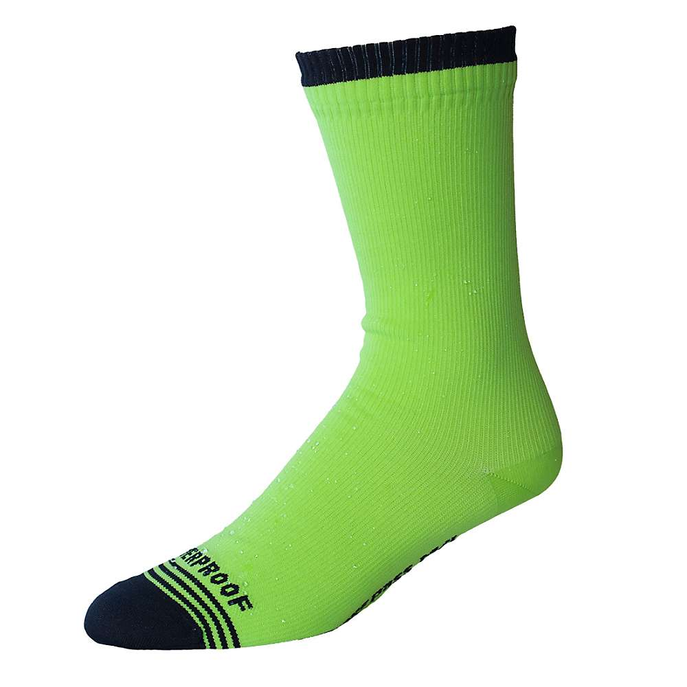 Showers Pass Crosspoint WP Hi-Viz Crew Sock - S/M - Neon Yellow