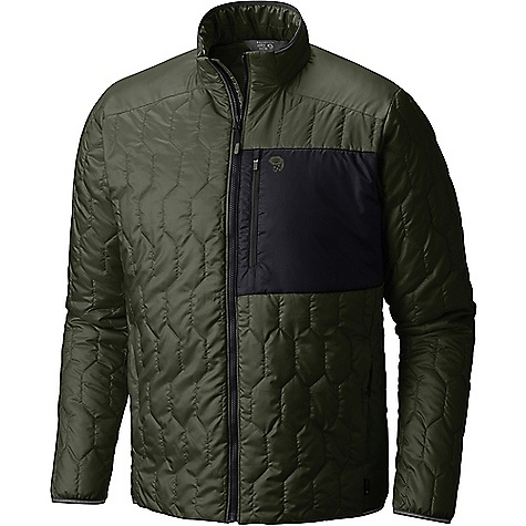Mountain Hardwear Men's Thermostatic Jacket Surplus Green Mountain Hardwear Men's Thermostatic Jacket - Surplus Green - in stock now. FEATURES of the Mountain Hardwear Men's Thermostatic Jacket Thermal?Q Elite replicates the structure of down for the highest warmth-to-weight ratio available in synthetic insulation Incredibly light and packable, even pocketable 22D Sensor Ripstop fabric is reinforced to prevent tearing and ripping Zippered hand-warmer pockets and zippered left chest pocket Reflective trim at cuff , hem, and neck Soft and comfortable