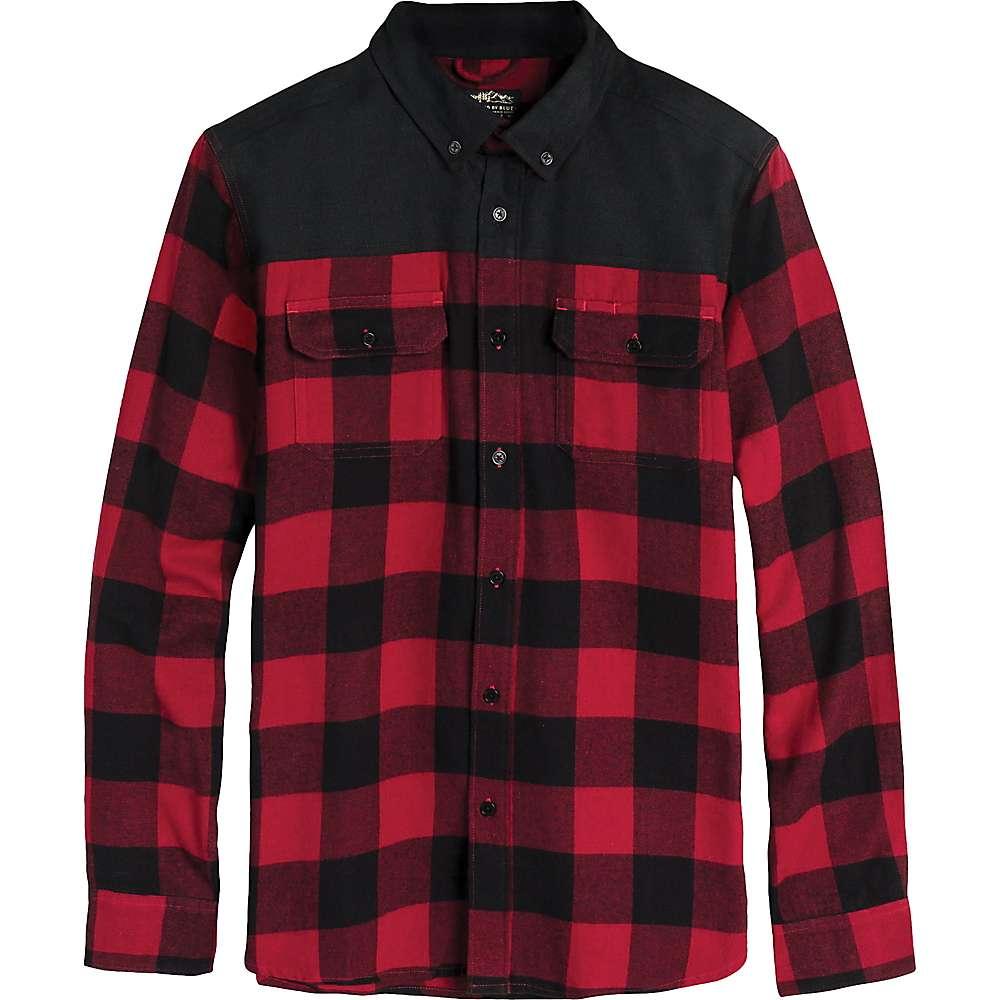 United By Blue Men's Wenham Shirt - Large - Red Plaid / Black Body