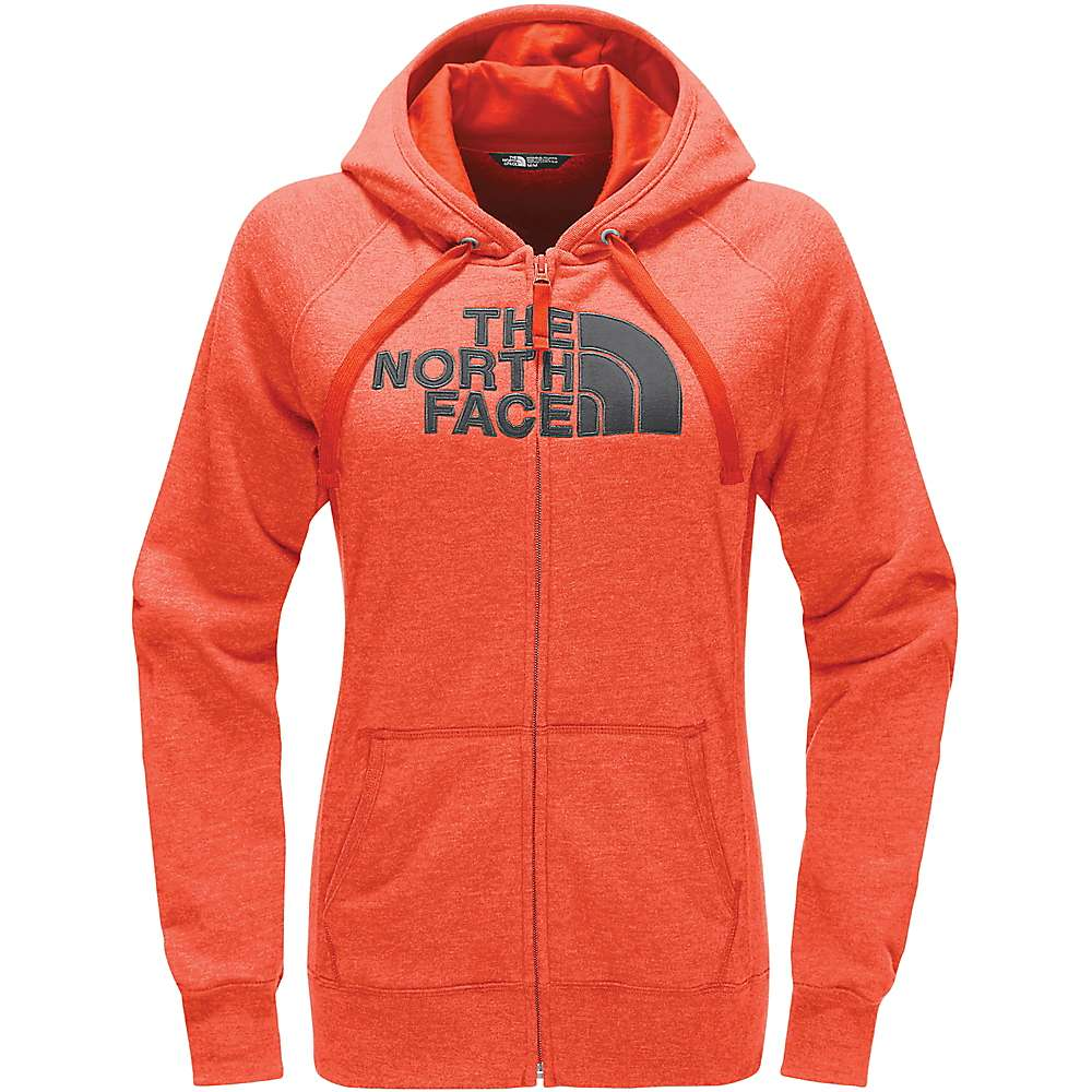 The North Face Women's Avalon Half Dome Full Zip Hoodie - Large - Fire Brick Red Heather / Asphalt Grey