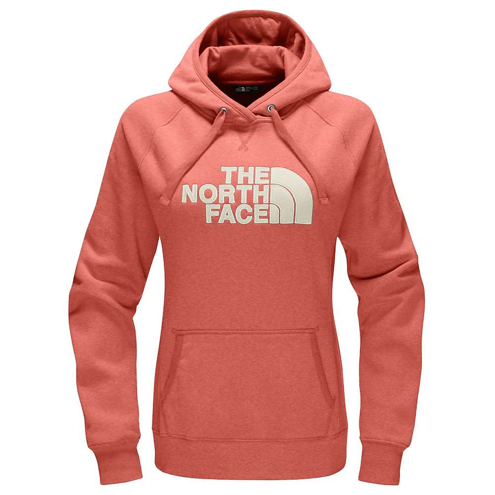 The North Face Women's Avalon Half Dome Pullover Hoodie - Large - Fire Brick Red Heather / Vintage White