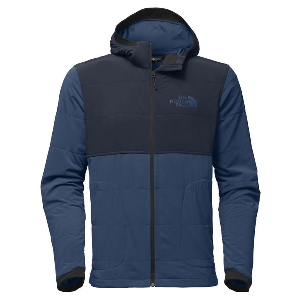 The North Face Men's Mountain Sweatshirt Full Zip Hoodie - XXL - Shady Blue / Urban Navy