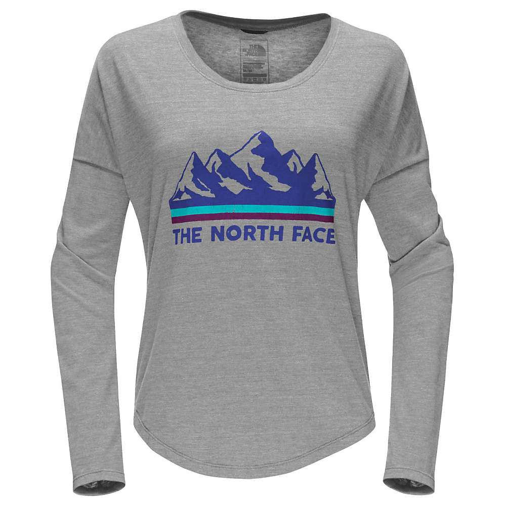 The North Face Women's Mountain View Tri-Blend LS Tee - Small - TNF Light Grey Heather