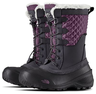 The North Face Youth Shellista Lace III Boot - Periscope Grey / Purple Sage