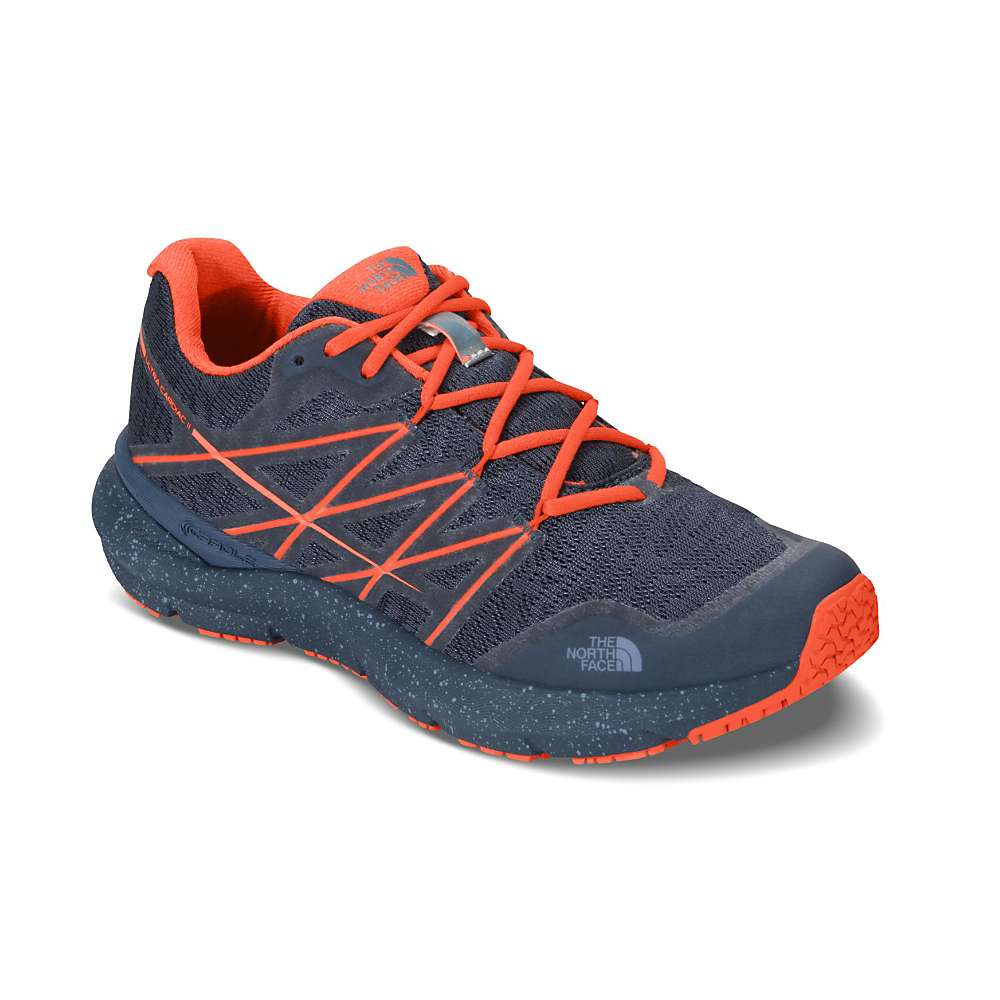 The North Face Women's Ultra Cardiac II Shoe - 9.5 - Shady Blue / Nasturtium Orange