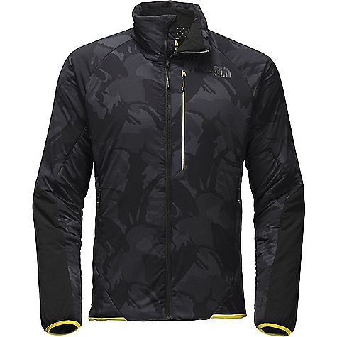 The North Face Men's Ventrix Jacket TNF Black Disrupt Camo Print / Acid Yellow