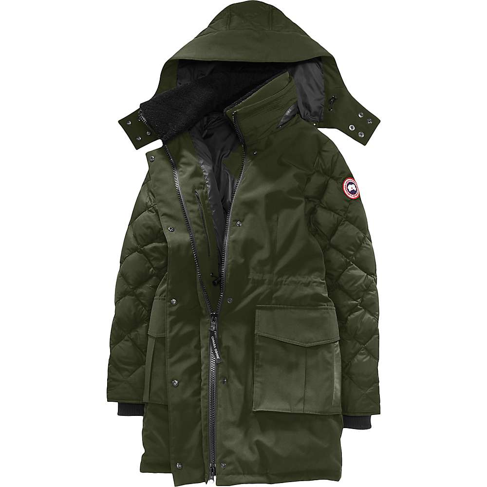 Canada Goose Women's Elwin Parka - Small - Military Green