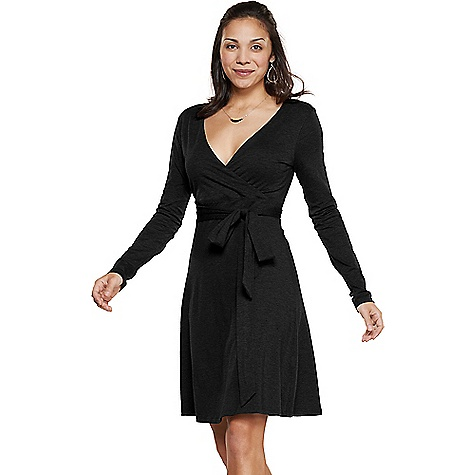 Toad & Co Women's Cue Wrap Dress Black Toad & Co Women's Cue Wrap Dress - Black - in stock now. FEATURES of the Toad & Co Women's Cue Wrap Dress Quick layer front bodice Tie at empire seam Quick line silhouette