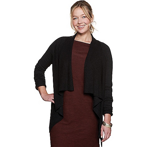 Toad & Co Women's Gypsy Shawl Cardi Black Toad & Co Women's Gypsy Shawl Cardi - Black - in stock now. FEATURES of the Toad & Co Women's Gypsy Shawl Cardi Flyaway silhouette Shaker knit shawl collar and front body Jersey knit sleeves and back body