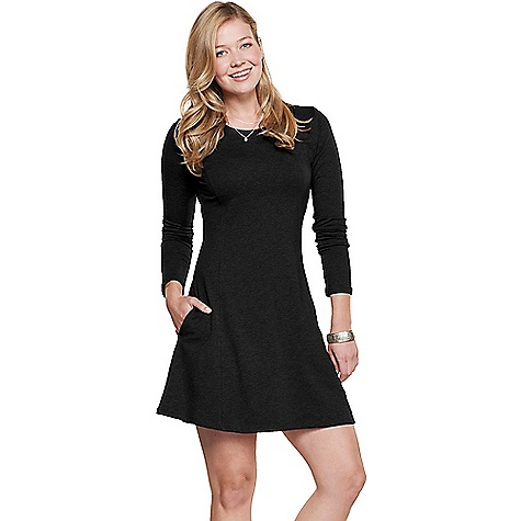 Toad & Co Women's Windmere Dress Black Toad & Co Women's Windmere Dress - Black - in stock now. FEATURES of the Toad & Co Women's Windmere Dress Quick out silhouette High crew neckline Raglan seam detail Quick seam hand pockets