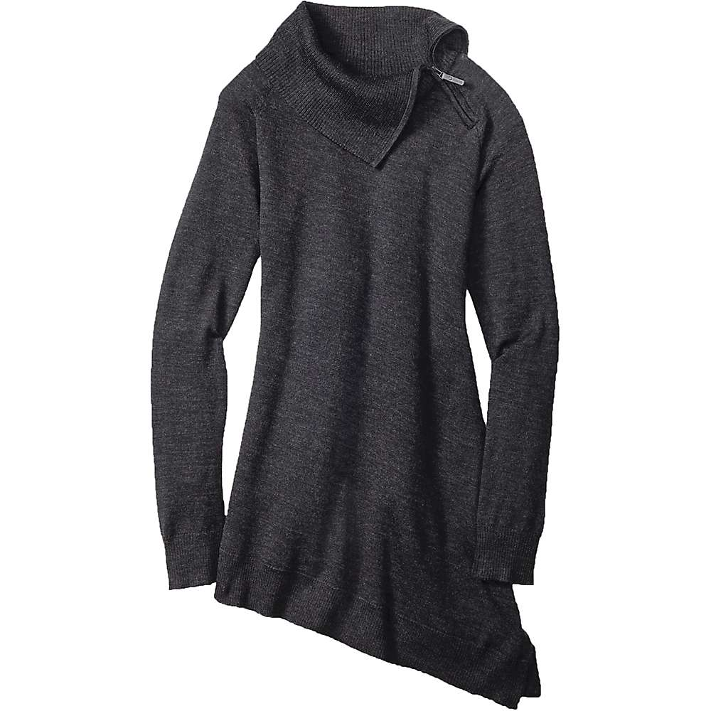 Smartwool Women's Cascade Valley Asymmetric Tunic - Small - Charcoal Heather