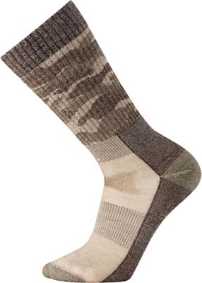 Smartwool Hunt Medium Camo Crew Sock - Medium - Fossil
