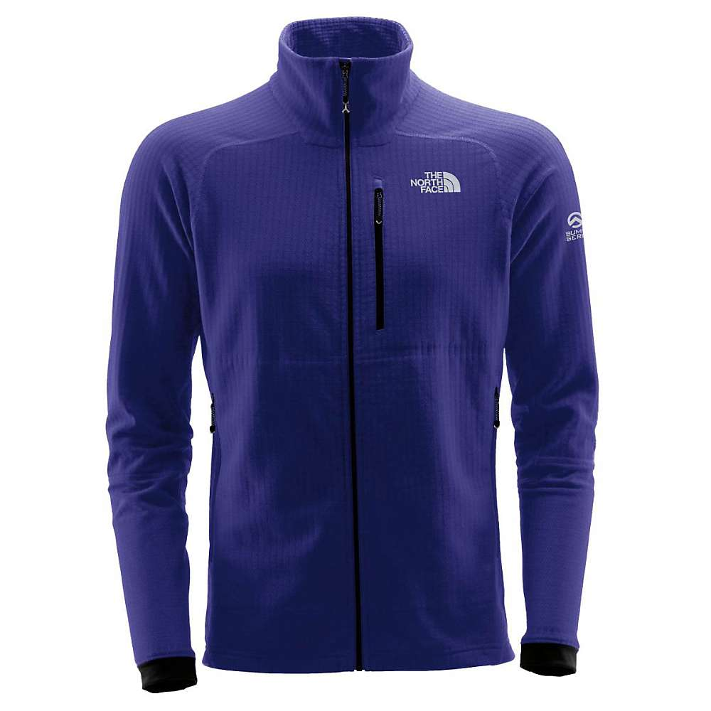 The North Face Summit Series Men's L2 FuseForm Grid Fleece Full Zip - Large - Inauguration Blue