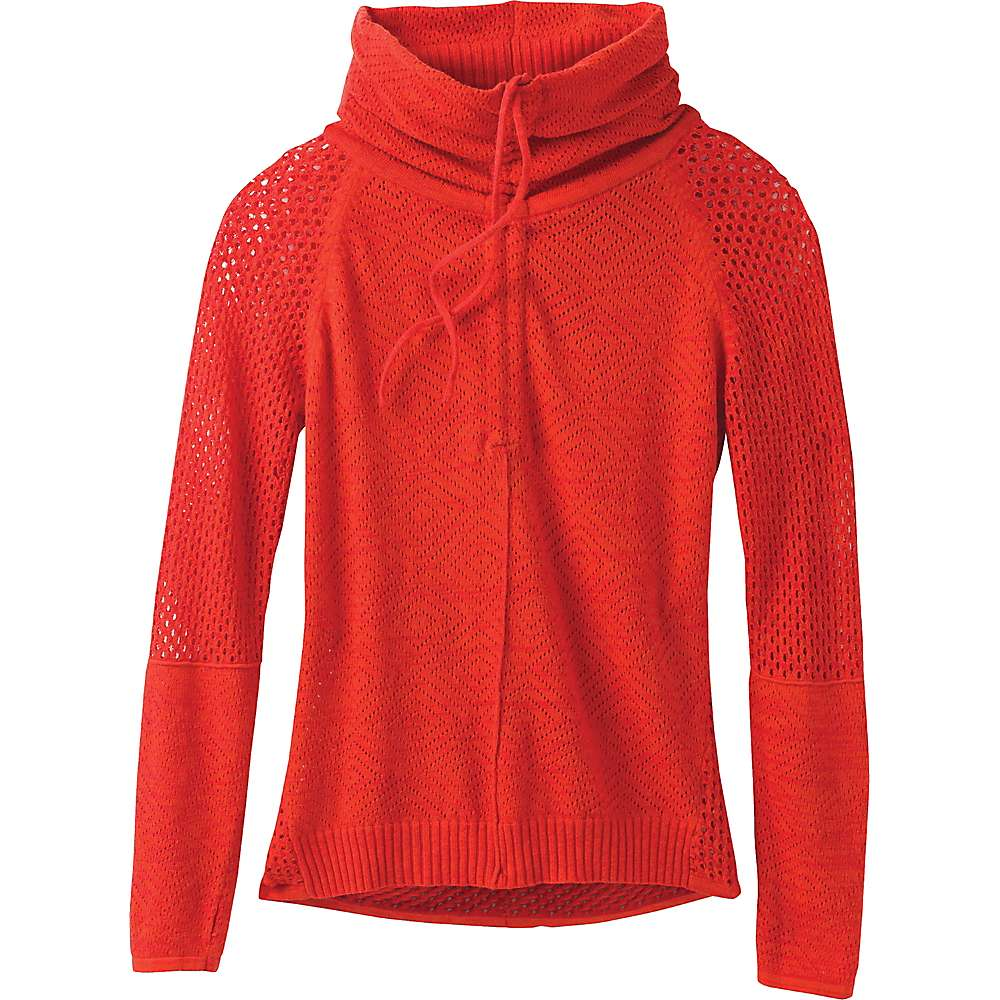 Prana Women's Cedar Sweater - Medium - Fiery Red