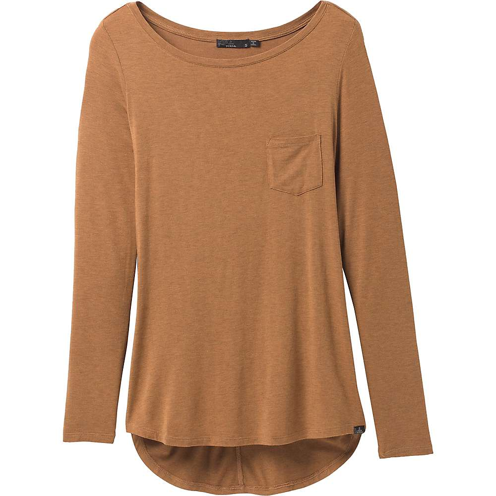 Discounts Prana Womens Foundation LS Tunic - XS - Antique Bronze Heather
