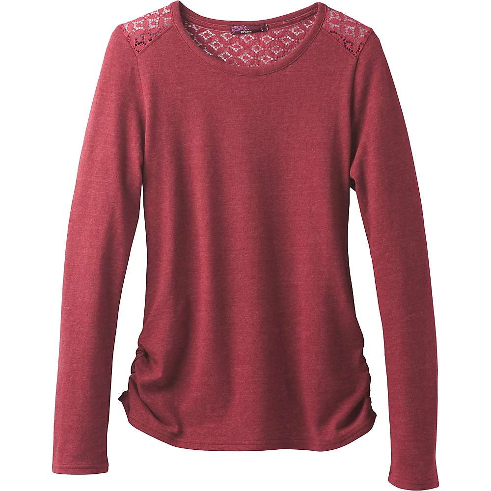 Prana Women's Isadoa Ballet Neck LS Top - Small - Woodland Red
